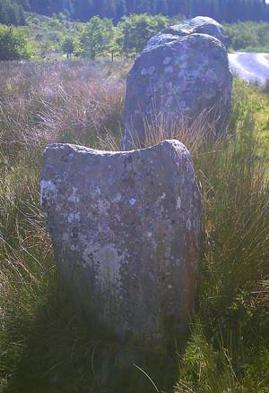 two large standing stones